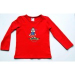 Kids Long Sleeve (L/S) Top Red Billie
